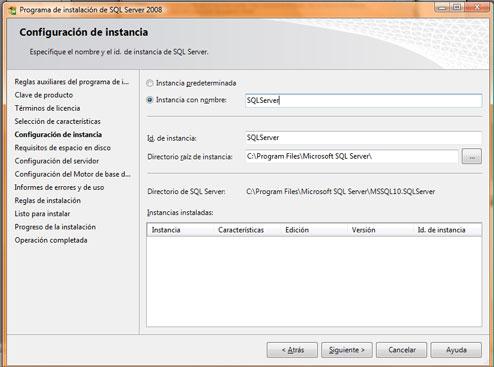 Como instalar SQL Server 2008. Configuración