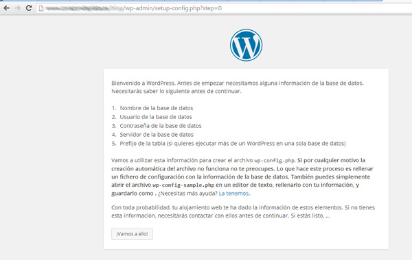 Instalación WordPress - Info Recopilación Datos