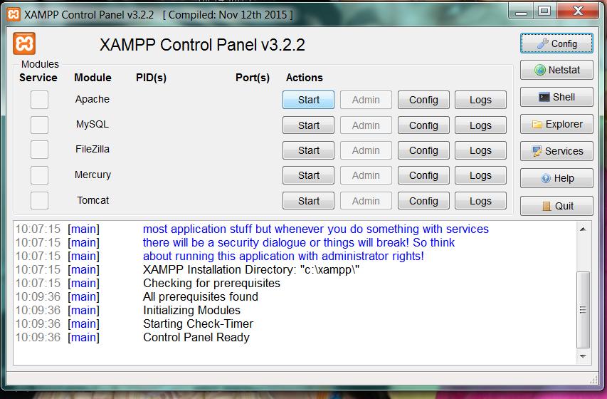 Instalacion XAMPP. Pantalla8
