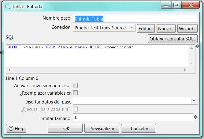Pentaho - SQL