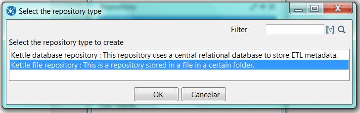 Pentaho - Conect repo file