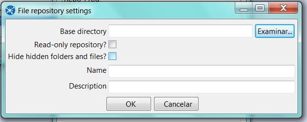 Pentaho - Ubicación directorio fichero